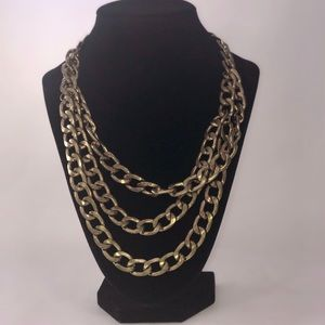 Gold 3-Tiered Necklace